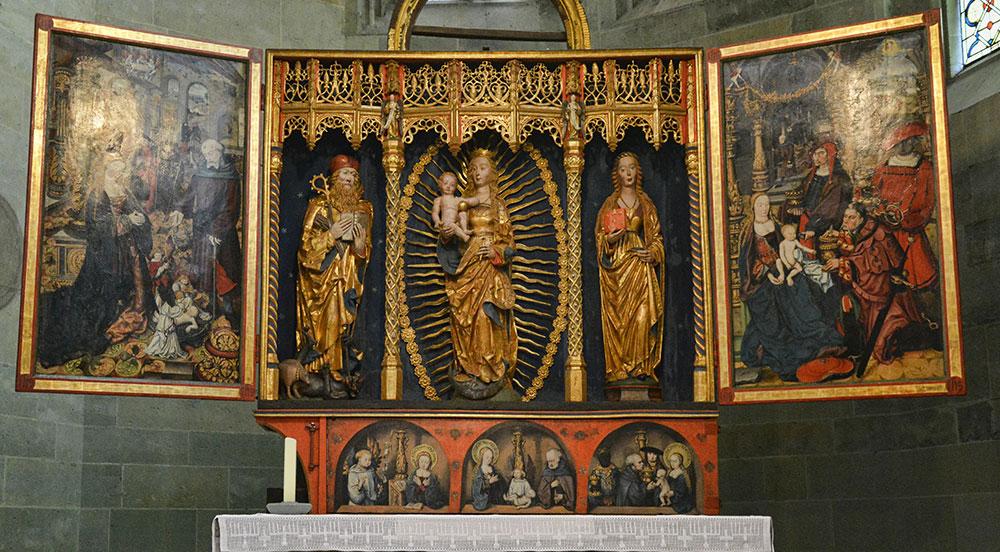 Schnitzaltar in der Kirche Mariae zur Wiese - Soest